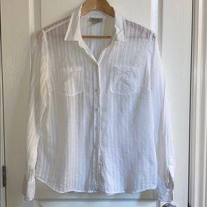 Lucky Brand White Cotton Shirt
